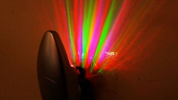 Colorful Rainbow Rays Wall Plug Led Night Light Energy Saving Lamp
