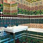 Colorful Unique Bathroom Floor Tile Ideas Furniture