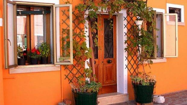Colors Orange Exterior Wall Paint Paints Undolock