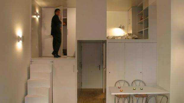 Compact Apartment Loft Madrid Displaying Smart Storage
