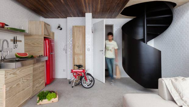 Compact Colourful Small Apartment Neatly Decorated Alan Chu