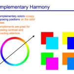 Complementary Color Wheel Chart Two Colors