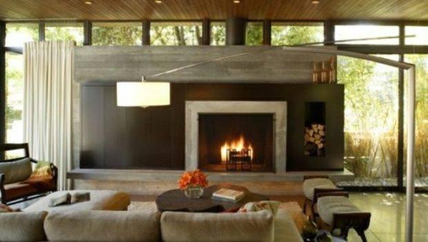 Concrete Fireplaces Change Space