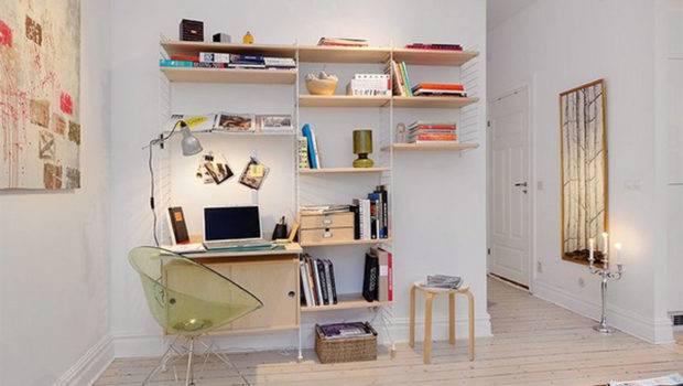 Contemporary Apartment Design Small Loft Area Bright Interior