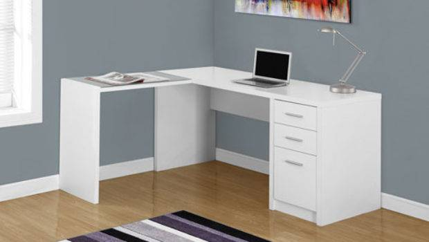 Contemporary Corner Desk White Desks Workstations