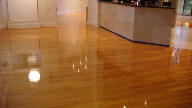 Contemporary Hardwood Laminate Flooring Space Front Kitchen