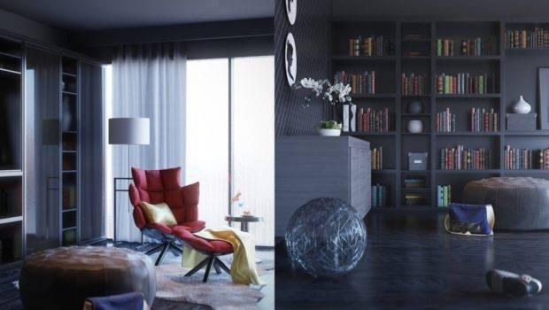Contemporary Home Library Interior Design Ideas
