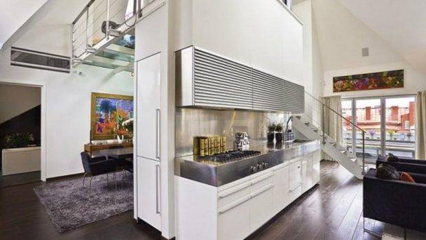 Contemporary Loft Apartment Interior Design Glass Floor Ideas