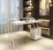 Contemporary Office Desk Unique Shaped Legs Washington