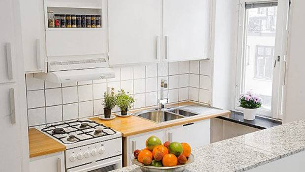 Contemporary Small Apartment Kitchen One Total Photos Space