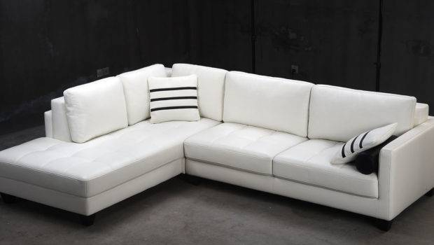 Contemporary White Shaped Leather Sectional Sofa Modern Ebay