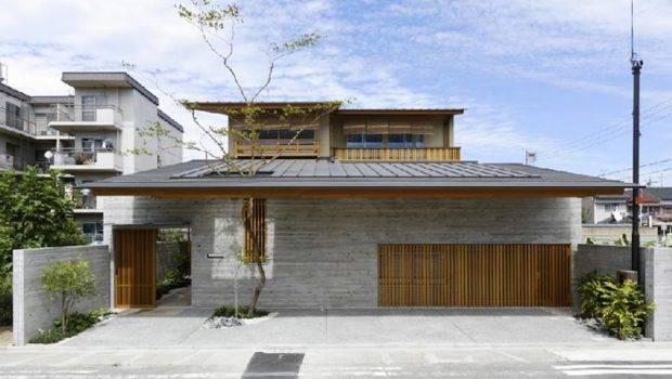 Contemporary Wooden Home Interior Design Green Yard