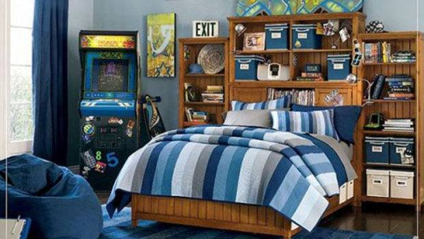 Cool Blue Boys Bedroom