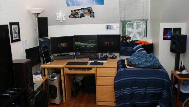 Cool Dorm Room Setups Computer Desk