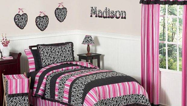 Cool Ideas Black Pink Teen Girl Bedroom
