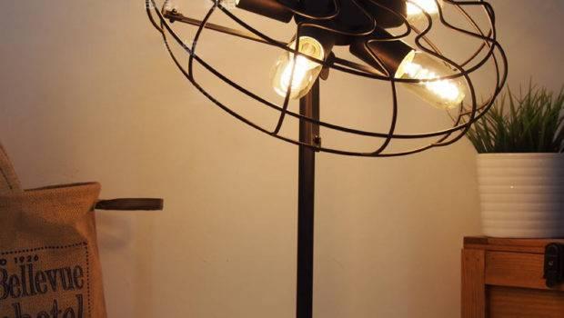 Cool Industrial Retro Style Fan Shape Bedside Table Lamp