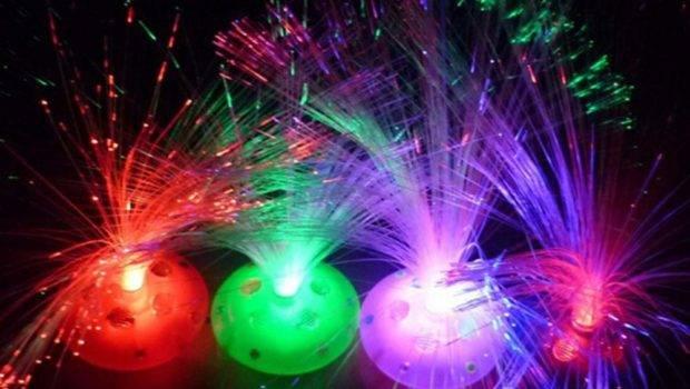 Cool Led Color Changing Fiber Optic Night Light Lamp