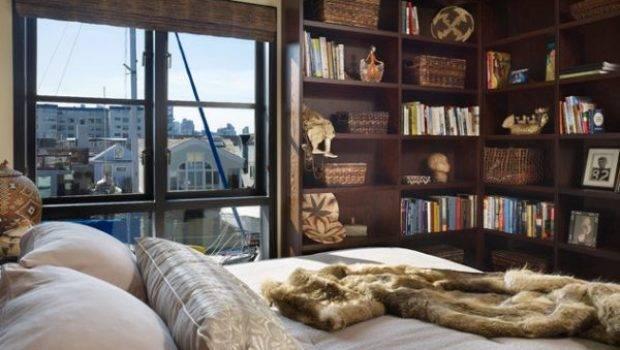 Cool Wall Shelving Books Corner Room