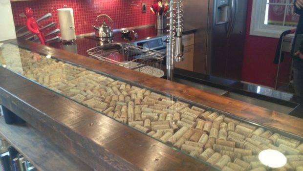 Cork Inlay More Wine Bars Corks Countertop Adore