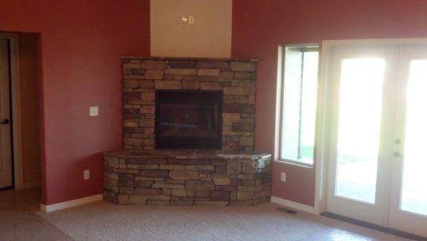 Corner Stone Fireplace Cabin Pinterest