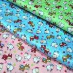 Cotton Fabric Colorful Print Material Bedding Curtains