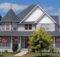 Country Home Designs Dark Grey Roof Two Stories House Victorian