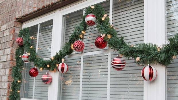 Couple Detailed Photos Hung Ornaments Garland