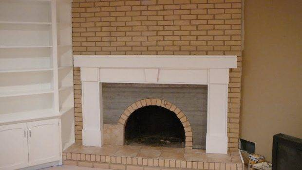 Cover Brick Fireplace Drywall Ideas Home Design