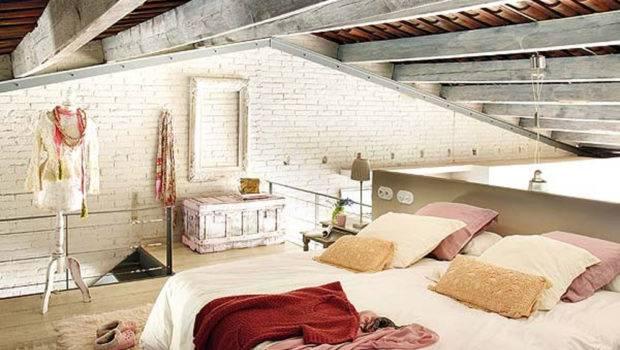 Cozy Bedroom Unique Loft Interior Design Architecture