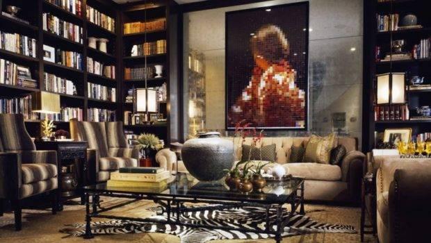 Cozy Contemporary Home Library Designs Hominic
