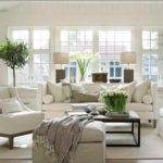 Cozy Traditional Living Room Indoor Plant Modern White Decor Whg