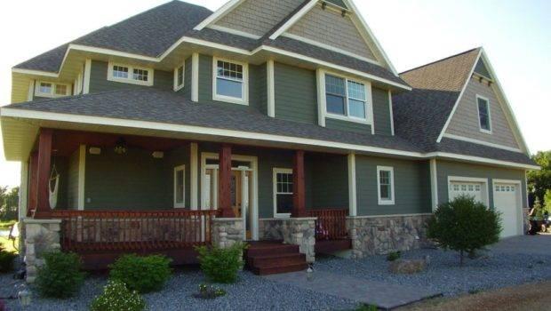 Craftsman Exterior Home Veneerstone Field Stone Cascade Flats