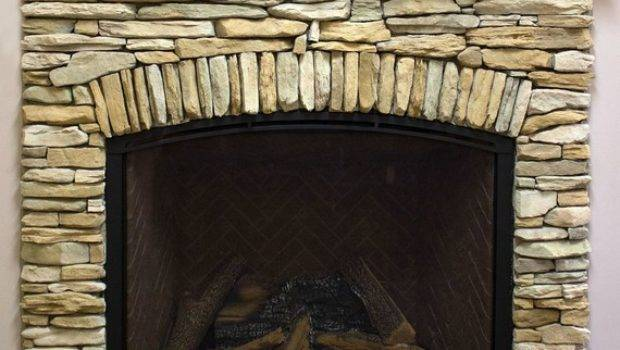Create Stacked Stone Fireplace Look Budget