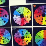 Creative Color Wheel Art Project Now Uniform Painted