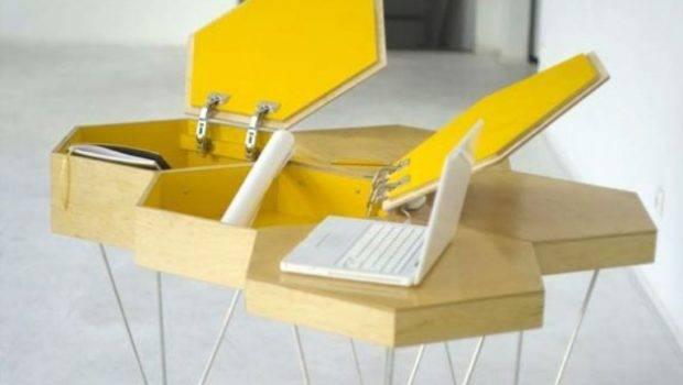 Creative Honeycomb Desk Home Office Digsdigs