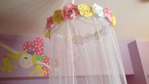 Custom Fabric Flower Canopy Bed Pinkapotamus