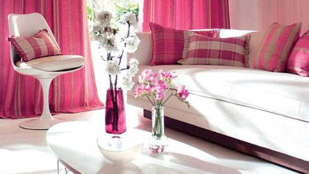 Cute Pink Living Room Decorating Ideas