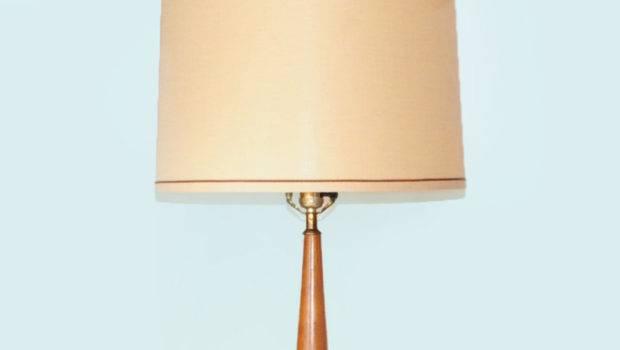 Danish Modern Lamp Tall Drum Shade Vintage