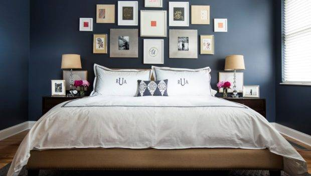 Dark Blue Bedroom Design Decor Ideas Frame Decoration