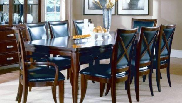 Dark Blue Brown Contemporary Dining Room Tables