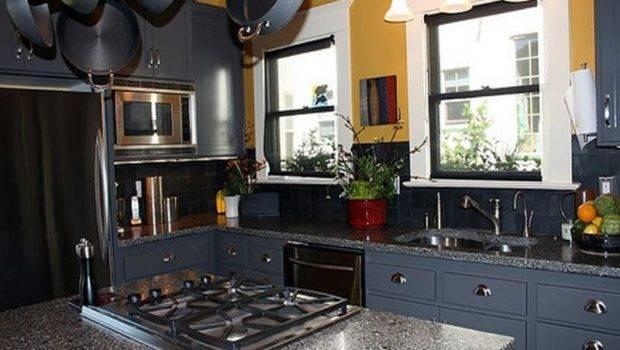 Dark Blue Paint Color Kitchen Cabinets