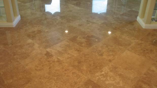 Dark Travertine Tile Kitchen Expert Installation San Diego