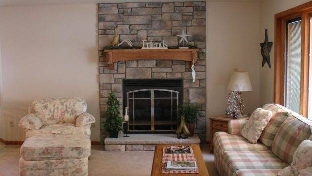 Decorating Build Natural Stone Fireplace Small Living Room