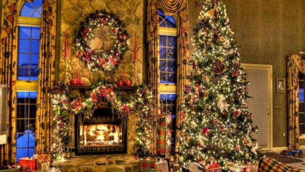 Decorating Ideas Cool Fireplace Garland Christmas Decoration