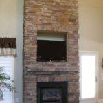 Decoration Build Country Stacked Dry Stone Fireplace