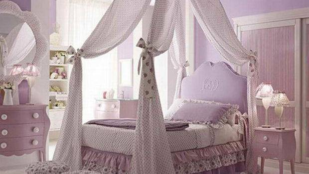 Decoration Decorating Canopy Bed Ideas Girl