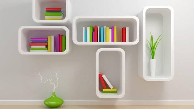 Decorations Fancy Minimalist Modern Bookshelf Designs Wall Decor
