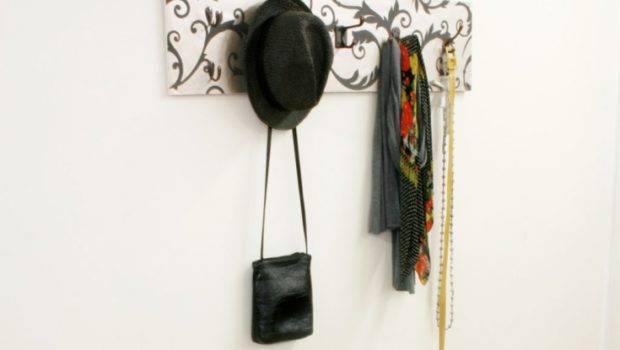 Decorative Coat Hooks Motives Black Industrial Blue Stone