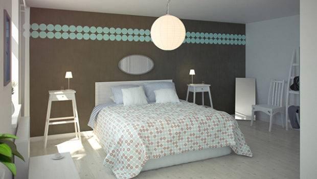 Design Bedroom Walls Polka Dots Circles