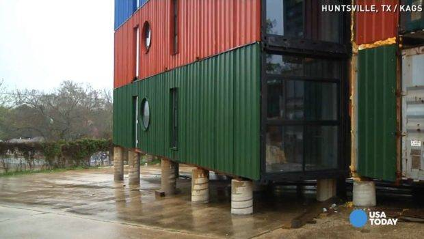 Designing Tiny Home Apartment Complex Out Shipping Crates Vpc